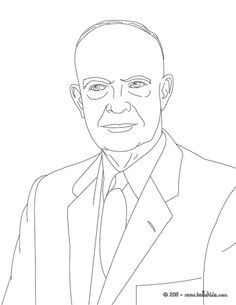 Dwight+d+Eisenhower+pics+of+him+at+the+white+house+in+color   President DWIGHT EISENHOWER coloring page