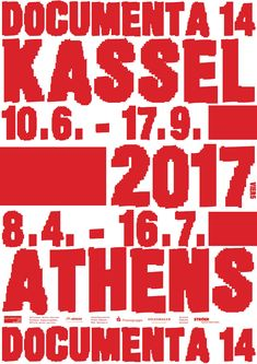 Germany's Historic Art Exhibition, documenta Questions the Omnipotence of Corporate Identity AIGA True Identity, Corporate Identity, Visual Identity, Poster Ads, Poster Prints, Ludovic Balland, Event Signage, Protest Signs, Volkswagen