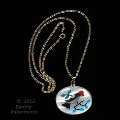 pdvn800 1970s Vintage 12K gold filled butterfly charm holder pendant