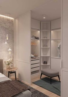 10 beautiful open wardrobe concepts for advanced students # openclosetsystems # ., 10 beautiful open cloakroom concepts for advanced students # openclosetsystems # o .- 10 beautiful open cloakroom concepts for advanced residents # . Bedroom Closet Design, Home Room Design, Home Decor Bedroom, Modern Bedroom, Decor Interior Design, Contemporary Bedroom, Bedroom Ideas, Wardrobe Design, Small Closet Design