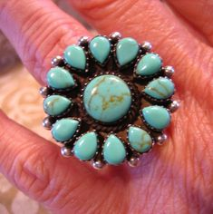 Vintage Navajo Sterling Silver and Turquoise Ring by charmingellie $78.00