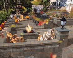 Create a zen outdoor living space in the comfort of your own backyard. Using Cambridge Pavingstones and Wallstones with ArmorTec, updating your backyard space will be a breeze. With Cambridge, you can update any sized backyard. Backyard Playground, Fire Pit Backyard, Backyard Patio, Backyard Landscaping, Outdoor Fire, Outdoor Living, Garden Tiles, Patio Design, Outdoor Gardens