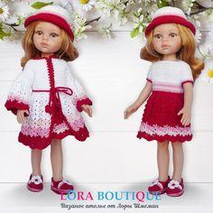 Clothes for doll Paola Reina. Кукольный наряд для паолок. Состоит из шляпки, кардигана, платья и эспадрилей. Girls Dresses, Flower Girl Dresses, Doll Clothes, Dolls, Knitting, Wedding Dresses, Fashion, Bride Gowns, Wedding Gowns