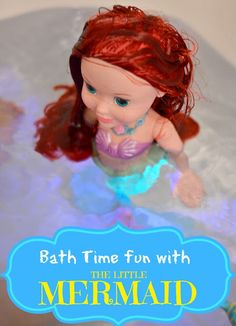 Disney Princess Bath Time Fun with The Little Mermaid #disneyprincessplay #cbias #shop