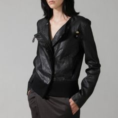 I've always wanted a leather jacket! But spring is coming... #jacket #leather #asymmetrical