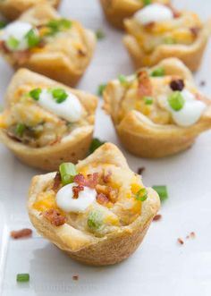 Loaded Mashed Potato Cups. | 21 Ways To Take Mashed Potatoes To The Next Level