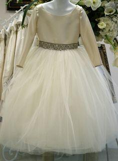 Flower Girl Dress, First Communion Dress, Easter Dress - Long Sleeve, Size 6 via Etsy
