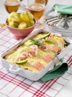 Salmon Recipes, Fish Recipes, Seafood Recipes, Snack Recipes, Cooking Recipes, Good Food, Yummy Food, Swedish Recipes, Recipe For Mom