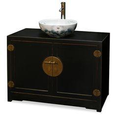 Elmwood Ming Style Vanity Cabinet