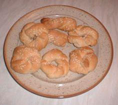 Greek recipe - greek food recipes and cooking - Sesame Cookies - Κουλουράκια με σουσάμι
