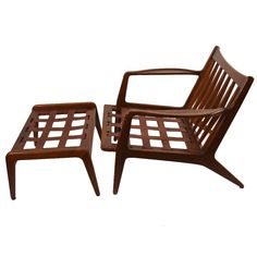 Danish Lounge Chair and Ottoman | From a unique collection of antique and modern lounge chairs at https://www.1stdibs.com/furniture/seating/lounge-chairs/