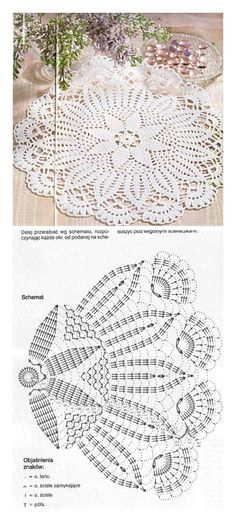 serweta / elementy do łączeniaLearn to knit and Crochet with Jeanette: Patterns of crochet doilies.This Pin was discovered by МарLearn to knit and Crochet with me. I have made some videos and I also am uploading some patterns for you to try. Free Crochet Doily Patterns, Crochet Doily Diagram, Crochet Mandala, Crochet Motif, Crochet Designs, Crochet Flowers, Crochet Lace, Free Pattern, Crochet Pillow