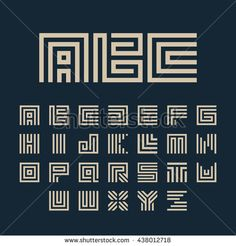 Monogram symbols collection o… Geometric vector white color alphabet letters set. Monogram symbols collection on the dark blue background. Typography Alphabet, Hand Lettering Fonts, Graffiti Lettering, Typography Fonts, Typography Design, Alphabet Code, Alphabet Letters, Letter Set, Letter Logo