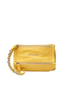 Pandora Leather Wristlet Bag, Yellow by Givenchy at Bergdorf Goodman.