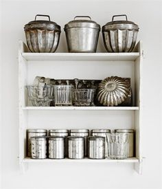 an idea for all of grandmas beautiful baking tins and trays