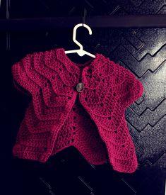 Baby ripple cardigan - free pattern
