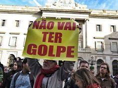 Protestos Contra o Golpe em Barcelona - Espanha