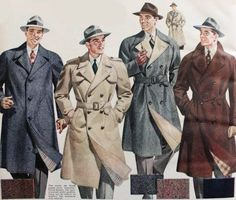 1943 Men's Trench Coats