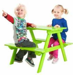 Paulas Furniture and Beds - Outdoor Kids Wooden Picnic Table, Outdoor Living, Outdoor Furniture, Beds, Home Decor, Outdoor Life, Decoration Home, Room Decor, Bedding