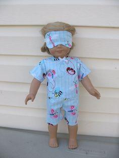 18 inch American Girl Doll Clothes Spring Fling Pajamas by roseysdolltreasures, $12.50