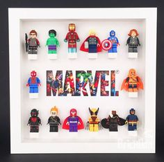 51 Ideas For Kids Room Lego Display Lego Minifigure Display, Lego Display, Kids Storage Boxes, Lego Storage, Marvel Room, Lego Marvel, Lego Bedroom, Boys Bedroom Decor, Pixel Art Minecraft