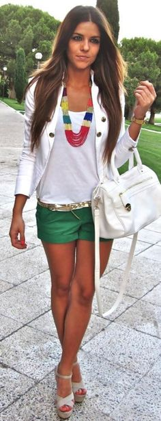love this outfit, totally love the nude heel with it and the splash of color!!!