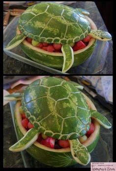 Definitely going to try my hand at some of this watermelon art stuff.