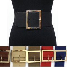 Beautiful Wide Prong Stretch Ladies Womens Girls Cinch Leatherlook Belt