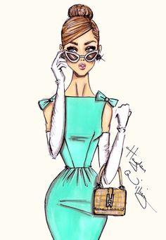 'A Very Stylish Girl' -=- Fashion Illustration by Hayden Williams Hayden Williams, Jennifer Williams, Fashion Art, New Fashion, Trendy Fashion, Girl Fashion, Fashion Design, Paper Fashion, Vintage Fashion