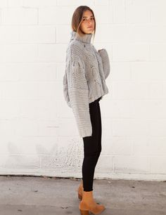 isabelle's cabinet Sweetheart Grey Turtle Neck