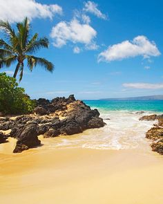 Secret Beach, Maui, Hawaii #luxury #vacation on a #Tropical #beach