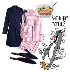 """Cereal Saturday Morning"" by jillof6 ❤ liked on Polyvore featuring Derek Rose, Victoria's Secret and Jil Sander"