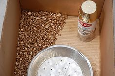 "Panning for GOLD! spray paint rocks gold poke holes in a pie plate fill a kiddie pool with dirty water and ""gold"" and let kids pan for gold."
