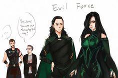 Hela is Not the sister of Thor and Loki, that's Angela! Hela is loki's daughter Thor X Loki, Marvel Dc Comics, Marvel Avengers, Marvel Funny, Marvel Heroes, Marvel Movies, Loki Laufeyson, Nananana Batman, Comics
