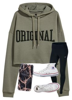 """Untitled #6564"" by laurenatria11 ❤ liked on Polyvore featuring NIKE and Converse"