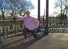 No gym equipment needed for walking lunges. Great leg and bum exercise! Do 3 sets with 20 reps