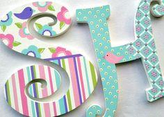 Cartas adolescentes Letras de madera letras infantiles por PoshDots