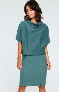 d90494134f BE B097 sukienka zielona - Sukienki na co dzień - Sukienki - MODA DAMSKA -  Sklep internetowy