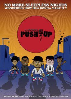 push-up affiche 40x60