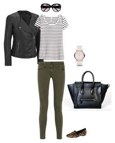 Untitled #133 by selena0217 on Polyvore featuring H&M, AG Adriano Goldschmied, Nine West, CÉLINE, Marc by Marc Jacobs and Gucci