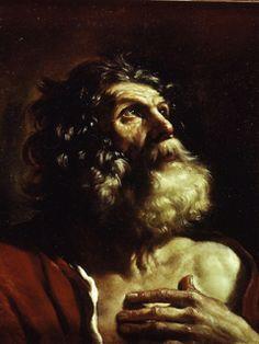 Giovanni Francesco Barbieri, called Guercino (1591 - 1666):  Head of an old Man
