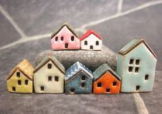 Candy Houses...Miniature Houses for Moss Terrariums or by elukka