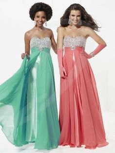 When I graduate from Facey this year, this is the dress I bought. Tiffany #16778. In Ice Pink though, so neither of these colors.
