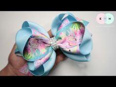 Laco de Fita 🎀 Multi Layer Ribbon Bow Tutorial 🎀 DIY by Elysia Handmade Making Hair Bows, Diy Hair Bows, Ribbon Hair Bows, Diy Bow, Diy Ribbon, Ribbon Bow Tutorial, Hair Bow Tutorial, Diy Tutorial, Crochet Wallet