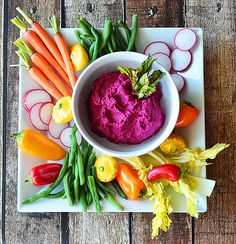 Roasted Beet Hummus {Vegan} - TheVegLife