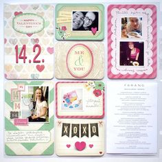 Paperikaramelli: Project Life February 2015 (Journaling cards from Crate Paper - Fourteen)