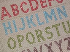 Alphabet Sampler   www.misswoolly.blogspot.com   Flickr
