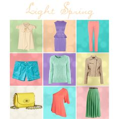 """Light Spring Capsule"" by never-never-land on Polyvore"