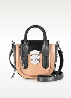Leather & Haircalf Low Satchel Bag  - Rochas