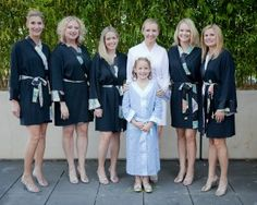 Such a cute bridal party!  #weddings #bridesmaids #robes